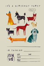 Load image into Gallery viewer, Dogs Invitation & Thank You Note, Set of 20