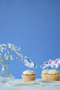 Unicorns Cupcake Toppers, Set of 24