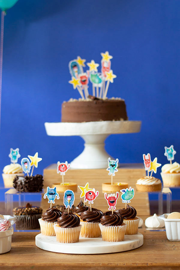 Monsters Cupcake Toppers