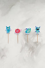 Load image into Gallery viewer, Monsters Cupcake Toppers
