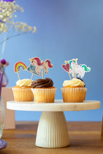 Load image into Gallery viewer, Unicorns Cupcake Toppers, Set of 24