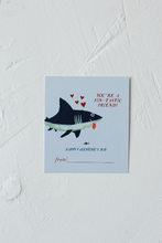 Load image into Gallery viewer, Shark Valentine's day Cards for Kids