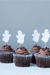Halloween Ghosts Cupcake Toppers, Set of 12