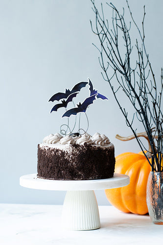 Halloween Bat Cake Toppers