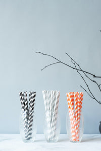 Halloween Striped Paper Straws