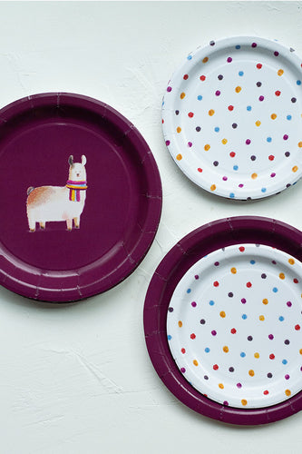 Llama paper plates, Set of 8 or 16