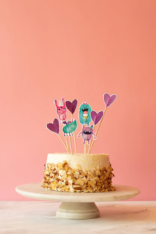 Pinky Monsters Cake Topper