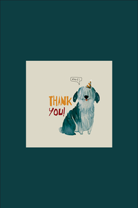 Dogs Invitation & Thank You Note, Set of 20