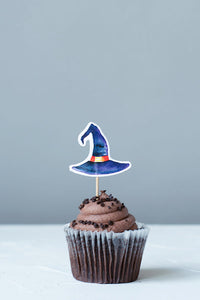 Witch hats Cupcake Toppers, Set of 12