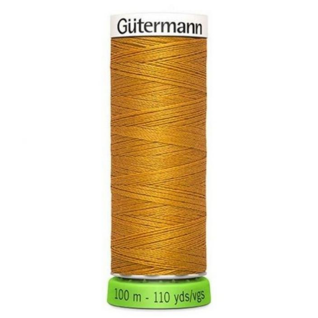 Gutermann rPET sewing thread 412 mustard
