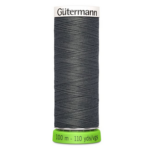 Gutermann rPET sewing thread 702 Dark Grey