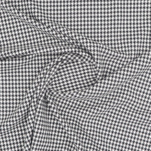Load image into Gallery viewer, Houndstooth pied-de-poule fabric oeko-tex swirl