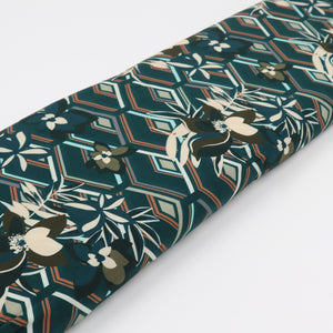 Viscose Abstract Flower Power oekotex Fabric bolt