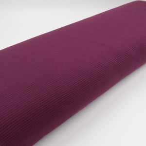 Rib Cotton aubergine fabric oekotex bolt