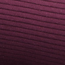 Load image into Gallery viewer, Rib Cotton aubergine oekotex close up