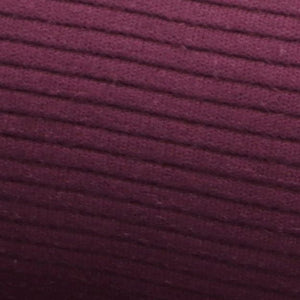 Rib Cotton aubergine oekotex close up