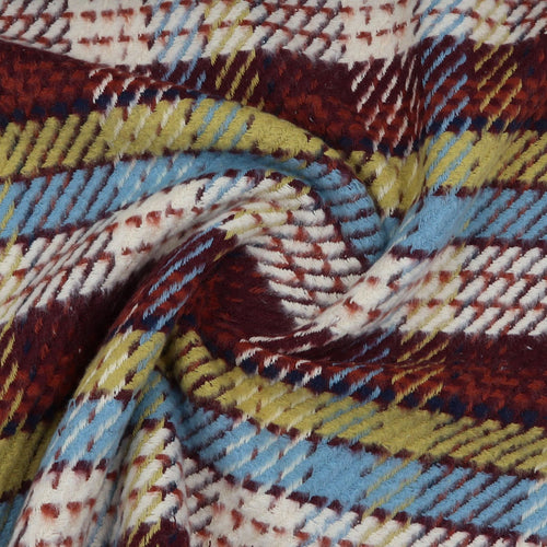 cotton coat fabric checkered oeko-tex swirl