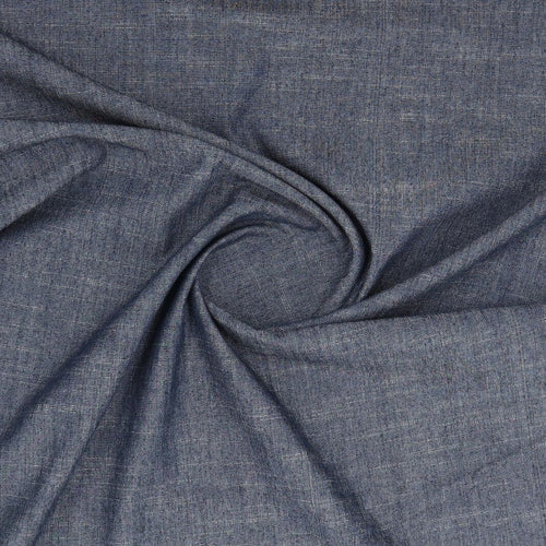Denim dark blue fabric stretch oeko-tex swirl