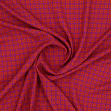 Load image into Gallery viewer, Viscose abstract Purple orange fabric oeko-tex swirl