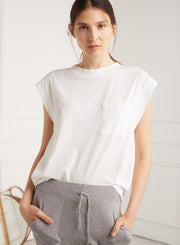 Exaggerated shoulder tee