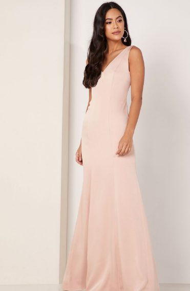 backless pink and black maxi dress floor length dress