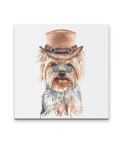 Yorkshire terrier dog watercolor