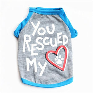 You Rescued My Heart T-shirt Dog