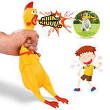 Screaming Rubber Chicken Squeeze Sound Toy For Dogs Non Toxic Bite-resistant