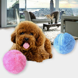 FURRY ROLLER AUTOMATIC DOG EXERCISE BALL TOY