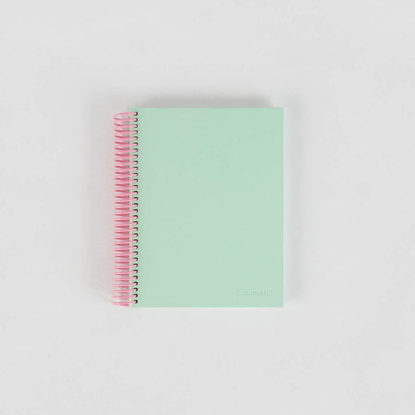 Large Graph Spiral Notebook