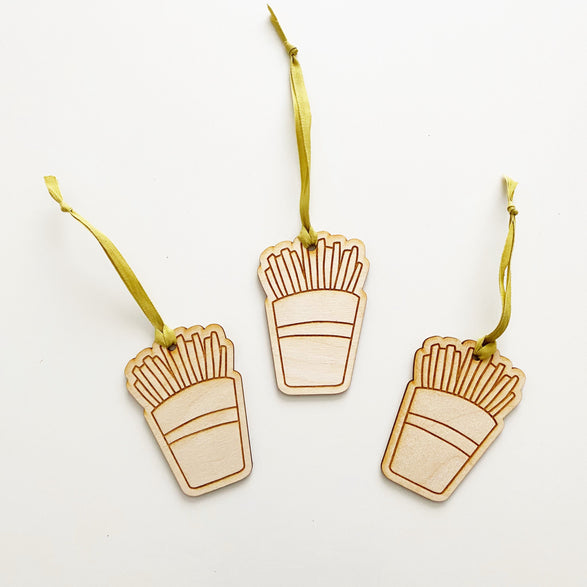 French Fries Wood Ornament
