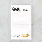 Cat To Do Not Do Notepad