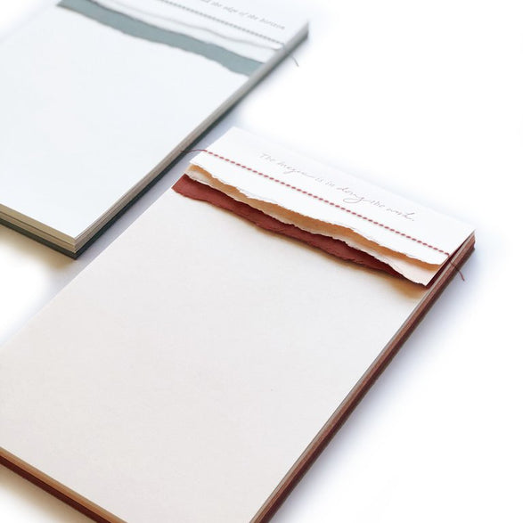Letterpress Notepad - 2 color options