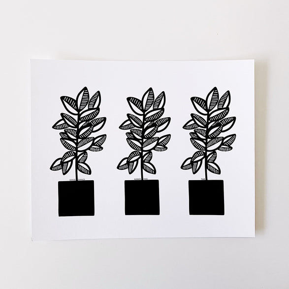 8x10 Art Print: Potted Plants