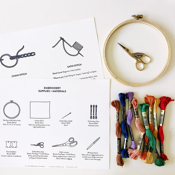 Beginners Embroidery Guide: Digital PDF File