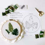 Embroidery Tropical Leaves + Foliage Pattern: Digital PDF File