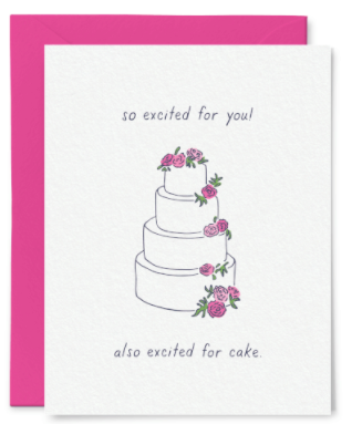 Excited For Cake Wedding