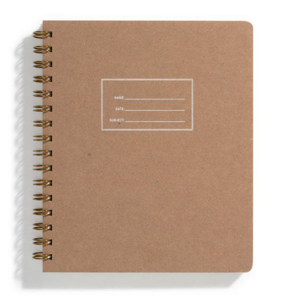 Lined Notebook - 5 color options