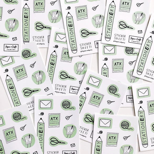 Stationery Lover Sticker Sheet