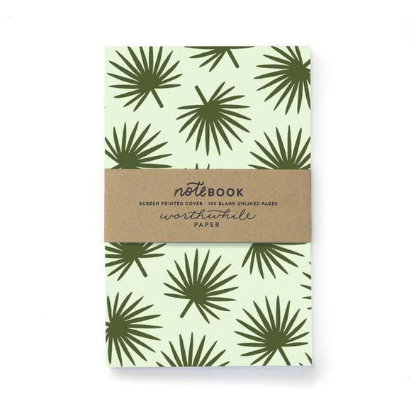 Blank Notebook: Palm Leaves