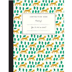 Lined Composition Book: 4 pattern design options