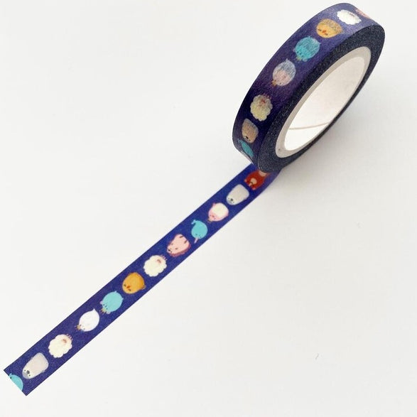 Blue Animal Washi Tape