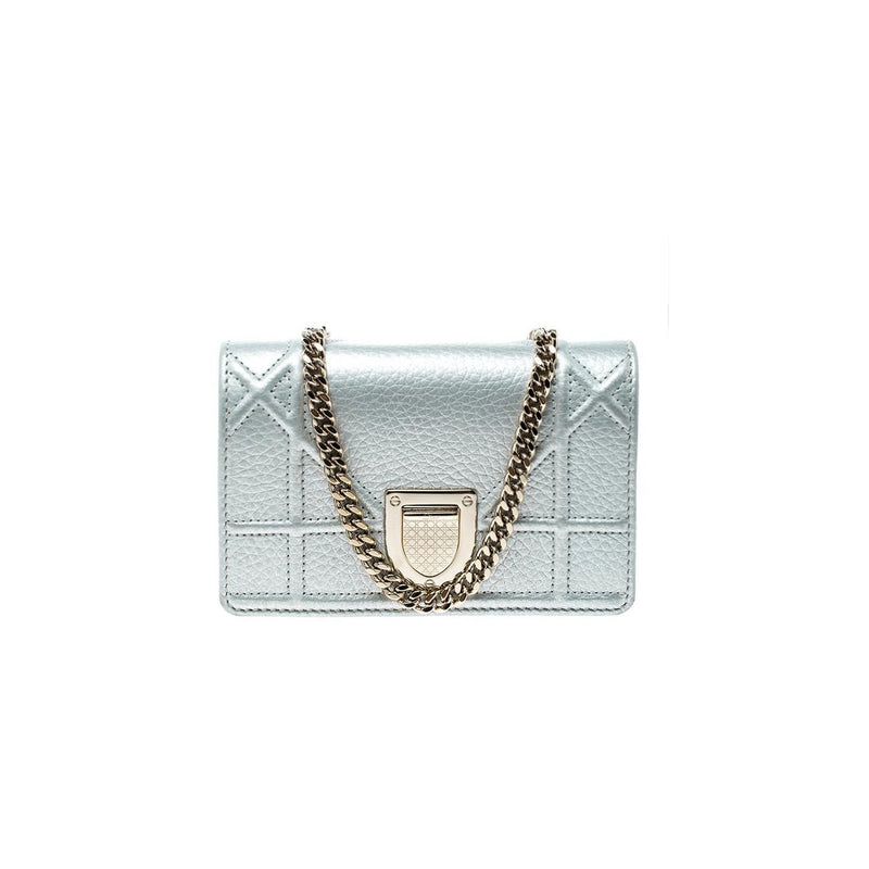 DIOR - Diorama Micro bag in Zilver