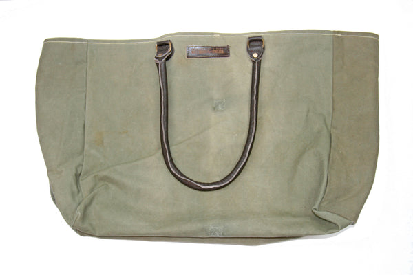Teach Peace – Recycled Military Market Tote by Vintage Addiction