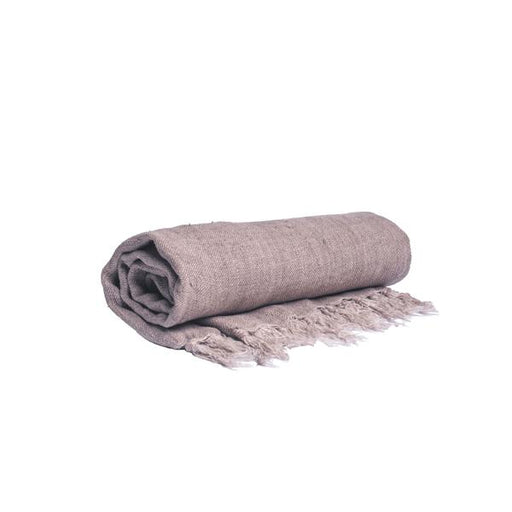 Washed Linen Throw - Flax