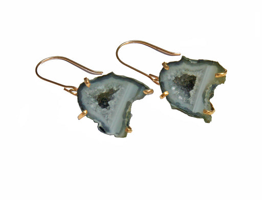 Tabasco Geode Single Drop Earrings