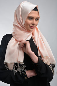 Salmon Shawl with Tassels - Buy Abaya Online