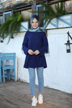 Load image into Gallery viewer, Navy Blue Modest Tunic - Buy Abaya Online