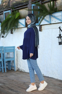 Navy Blue Modest Tunic - Buy Abaya Online
