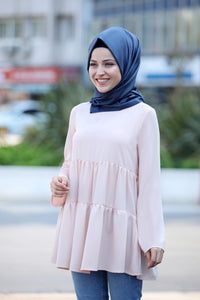 Powder Pink Modest Tunic - Buy Abaya Online